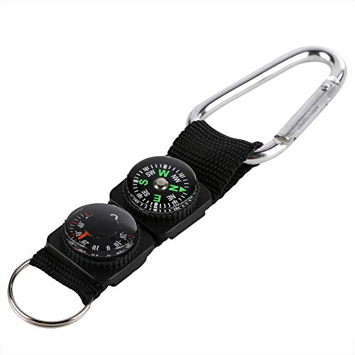 Eastbuy Military Compass - Hiking Backpacking Compass Multifunction Waterproof Mini Portable Thermometer Compass Key Ring