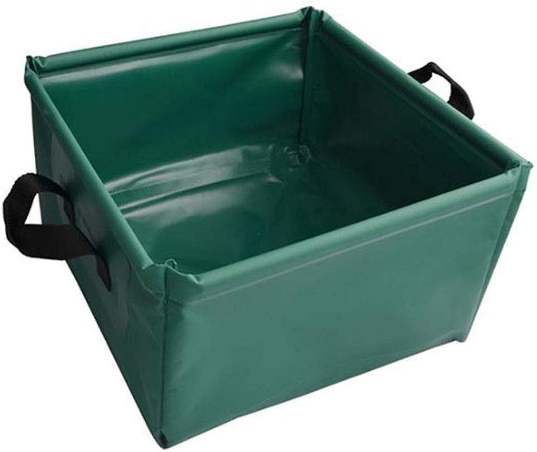 Faltbecken Tragbares Quadrat 15L Waschbecken im Freien Fubad Auto Eimer , 30  30  17cm