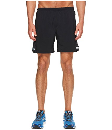 Brooks Men's Sherpa 7' 2-in-1 Short (X-Small) Black