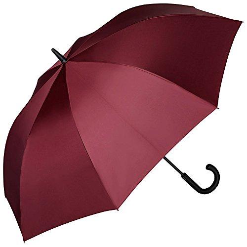 VON LILIENFELD Regenschirm XL Durchmesser 114 cm Auf-Automatik Groß Stabil Stockschirm 2-Personen Leo Bordeaux/Burgunderrot