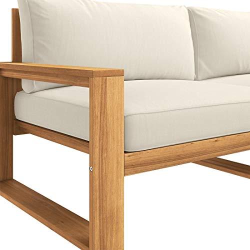 OUTLIV. Loungemöbel Holz Santa Cruz Loungemöbel Outdoor 5-teilig Akazie Teaklook Gartenlounge Loungegruppe - 3