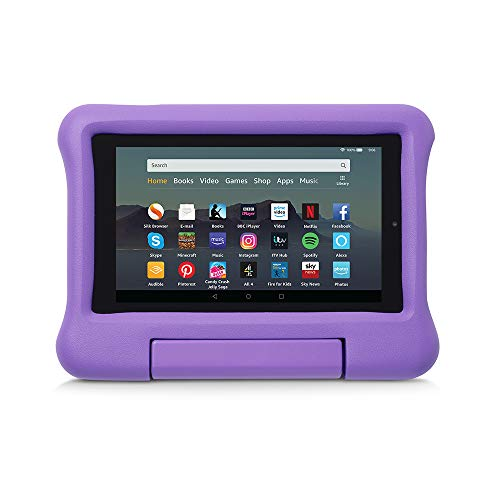 Kid-Proof Case for Fire 7 Tablet | Compatible with 9th-Generation Tablet (2019 release), Purple