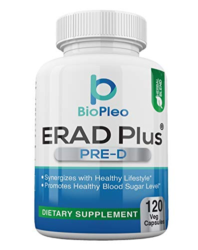 ERAD Plus Pre-D for Healthy Pancreatic Beta Cell Function – A Diabetes Support Supplement to Promote Healthy Pancreatic Beta Cell Function and Lower Blood Sugar Naturally (120 Veg Capsules)