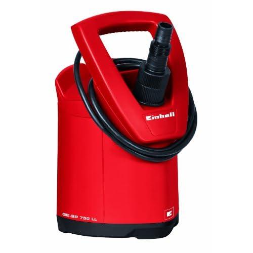 Einhell GE-SP 750 LL Pompa a Fondo Piatto, Funzionamento Automatico a Continuo, Rosso, 750 W, 230 V, 2 mm