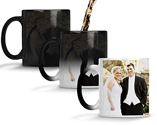 Custom Mugs Personalized Heat Sensitive Color Changing 11 Oz Coffee Mug Add Your Text and Photos...