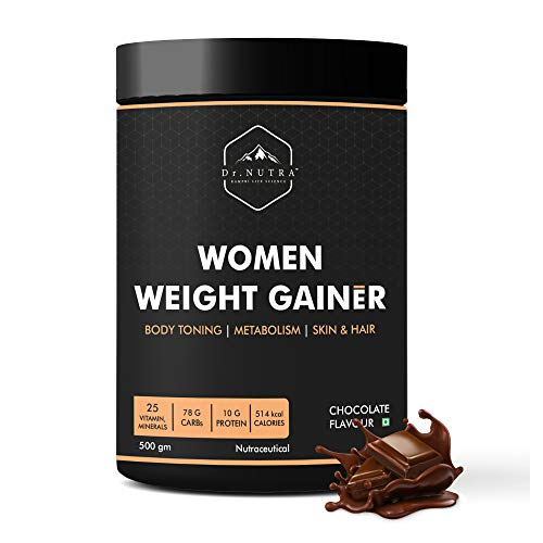 Dr.Nutra Women Weight Gainer For Increase Breast Muscle, Weight Gain and Mass Gain For Women - 500gm , Chocolate Flavor