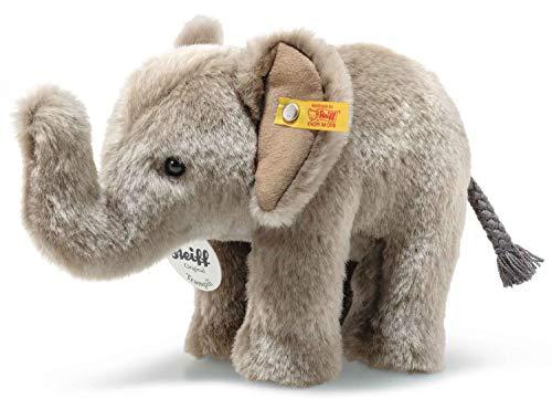 Steiff Floppy Trampili Elefant - 18 cm - Kuscheltier für Kinder - Plüschelefant - weich & waschbar - grau - (064487)