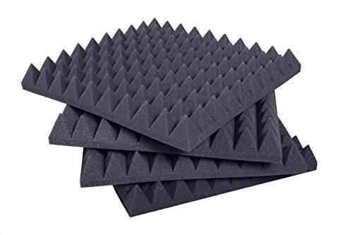 Pannelli Fonoassorbenti Piramidali Correzione Acustica 50x50x6 D25 Pacco da 10