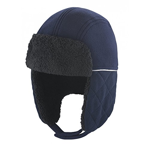 Result - Gorro Aviador Modelo Ocean Winter Essentials (L/XL) (Azul Marino/Negro)