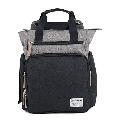 Eddie Bauer Explorer Convertible Diaper Bag, Navy/Grey