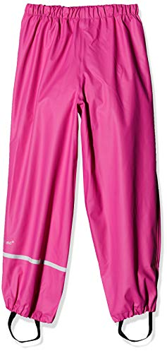 Celavi Rainwear Pants - Solid Pantalon De Pluie, Rose (Real Pink), 140 cm Fille
