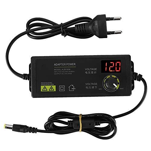 Goshyda Netzteil, 60W 5A 3-12V Einstellbare Spannungsdrehzahlregelung Dimmbares Adapter mit LED-Digitalanzeige, für Mini-TV, Mobile 2,5-Zoll-Festplatte, Mobile DVD, TV-Box