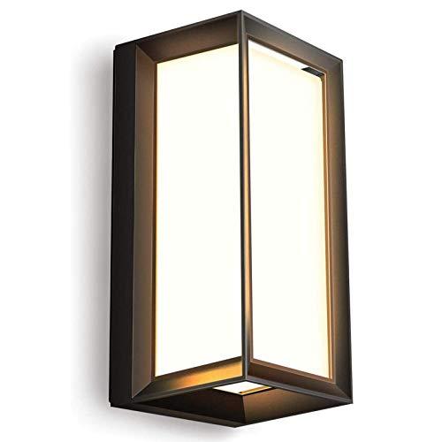Glighone 18W LED Wandleuchte Außen Außenlampe mit bewegungsmelder Außenbeleuchtung Wand Alu Rechteck Wasserdicht 1800LM Außenleuchte für Garten Balkon Flur Hof Treppenhaus Terrasse, warmweiß