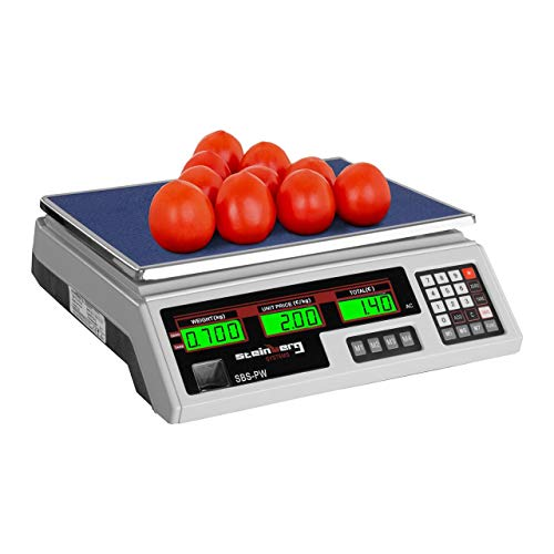 Steinberg Systems Balanza De Control Bascula Digital SBS-PW-352W (35 kg / 2 g, Pantalla LCD, Batería integrada 40 h) Blanca