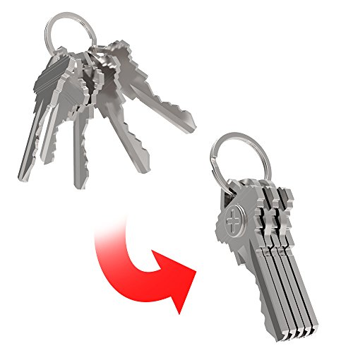KeySmart Organizadores unisex (4 pares de imanes obligan a tus llaves a pegarse, plata, talla única