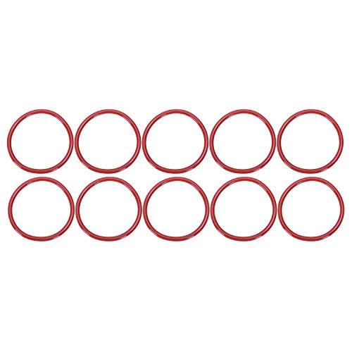 Cuasting 10 PCS Industrie Silikon O Ring Dichtung Dichtung 43 mm x 50 mm x 3,5 mm