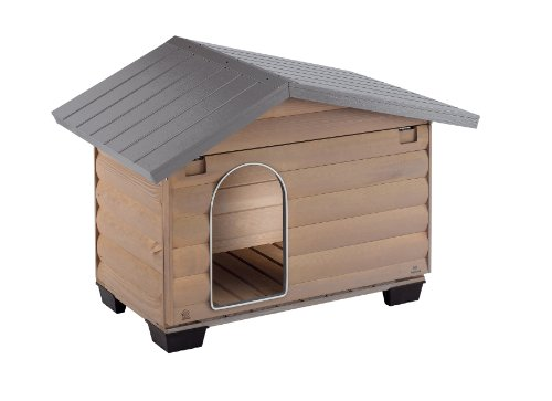 Ferplast 87022000 Hundehütte CANADA 4, aus Holz, Maße: 110 x 69,5 x 74,5 cm
