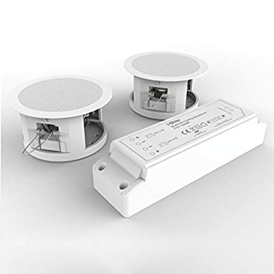 i-Star Ceiling Bluetooth Speakers Complete Kit - Easy To Install Ceiling Speakers Fit in Existing Downlight Cut-Out Easy To Pair Bluetooth Works With Echo Dot by Philex Electronic Ltd