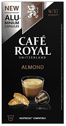 Café Royal Almond Flavoured Edition 10 Nespresso, kompatible Kapseln (aus Aluminium, Intensität 4/10), 1er Pack (1 x 10 Kaffeekapseln)