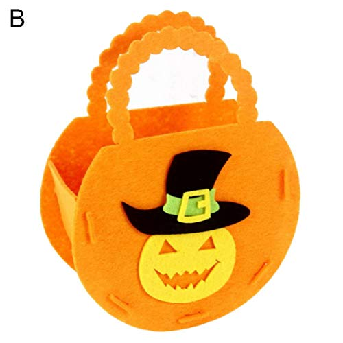 Steellwingsf Draagbare Halloween pompoen vorm candy bagage emmer trick of behandeling decor