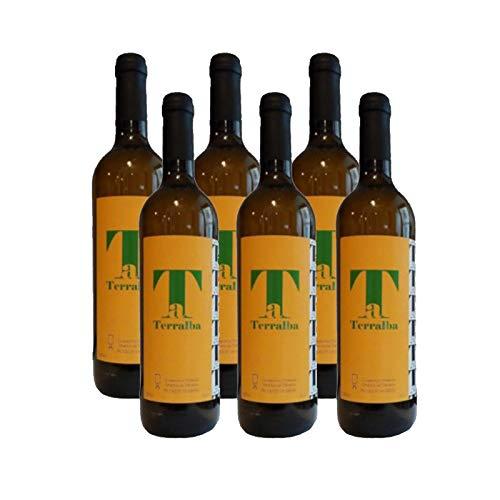 Vino Blanco Terralba de 75 cl - Elaborado en Cadiz - Cooperativa Vitivinicola Albarizas de Trebujena (Pack de 6 botellas)