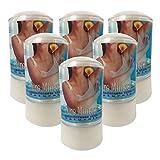 Desodorante de Piedra de Alumbre en stick - Puro Mineral - Cristal de Alumbre de Potasio 60 gr - Desodorante 100% natural - Desodorante sin Parabenos sin Aluminio - Cantitad: 6