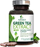 Green Tea Extract 98% Standardized EGCG for Natural Energy 1000mg - Supports Healthy Heart & Energy with Polyphenols - Gentle Caffeine, Made in USA - 120 Capsules