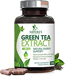 commercial Green Tea Extract 98% Standardized Weight Loss EGCG 1000 mg – Increased Metabolism for a Healthy Heart –… green tea pill