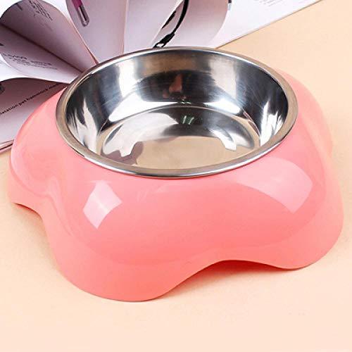 Hundenapf Kunststoff Edelstahl Wasser Pet Bowl Blumenform Futter Hundenäpfe Large Pink