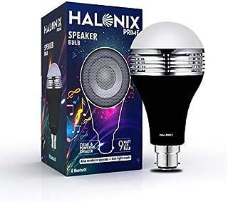 Halonix B22 9-Watt LED Bluetooth Speaker Bulb (White and Yellow Light)