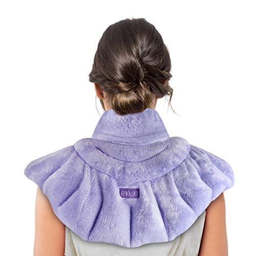 REVIX Microwave Heating Pad for Neck Shoulders and Back Pain Relief with Moist Heat Weighted Microwavable Heated Neck Wrap Warmer Scented