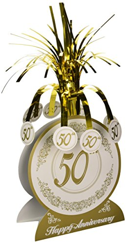 50th Anniversary Centerpiece Party Accessory (1 count) (1/Pkg)