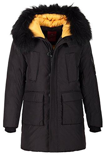 Grimada 6H23 winterjas voor heren, Blogger Arctic Parka KINGSWIND met echte bontcapuchon