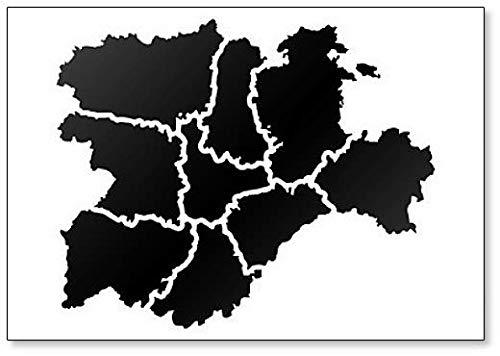 Mapa de Castilla Y León. - Imán para nevera