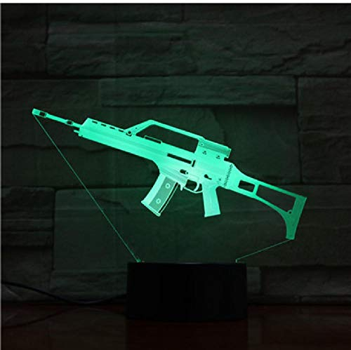 3D Usb LED lamp machinepistool 3D tafellamp meerdere kleuren 3D decoratie lichten als kinderen verjaardagsgeschenk afstandsbediening telefoon Bluetooth control kleur