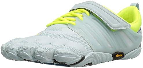 Vibram FiveFingers V-Train, Zapatillas Deportivas para Interior para Mujer, Blanco (Pale Blue/Safety Yellow), 40 EU