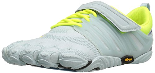 Vibram FiveFingers V-Train, Zapatillas Deportivas para Interior para Mujer, Blanco (Pale Blue/Safety Yellow), 36 EU