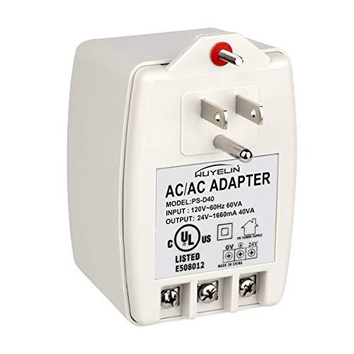24VAC 40VA Plug in Transformer,Doorbell Transformer Compatible with All of Doorbell,Nest, Ecobee, Sensi and Honeywell Thermostat