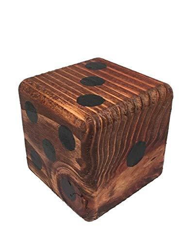"""Giant Wooden Yard Dice - 3.5"""" Wood Die - Yardzee yard dice game - Price per single die"""