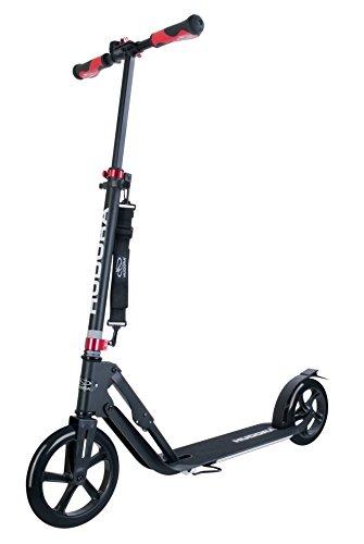 """HUDORA Unisex Jugend Big Wheel Style Alu 9\"""" 230-Tret-Roller klappbar City-Scooter, schwarz, One Size"""