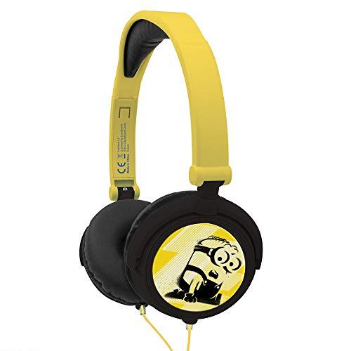 Lexibook Universal Moi, Moche et Méchant 3 Minions Casque audio stéréo, puissance sonore limitée, pliable et ajustable,HP010DES.