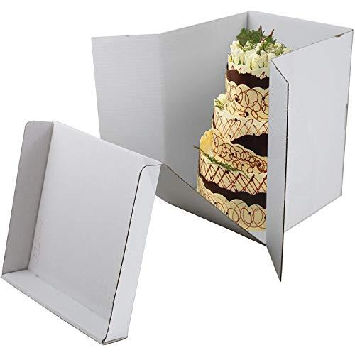 Tortenbox - Hoch | 300 x 300 x 350mm | für hohe Torten | einteilig