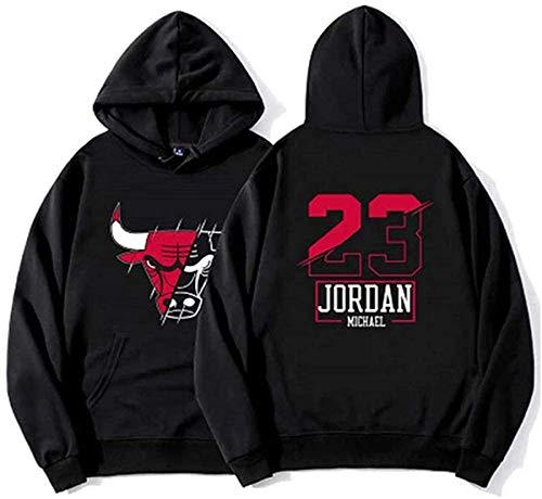 GIHI Sudadera con Capucha De Baloncesto, Chicago Bulls De Michael Jordan # Camiseta De Baloncesto Sudadera Suelta Y De 23 Hombres del Jersey Camiseta De Las Mujeres,S(160~165cm)