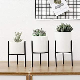 Iron Planter - UK Iron Plant Vase Stand Planter Holder Ceramic Flower Pot Shelf Rack Garden Decor