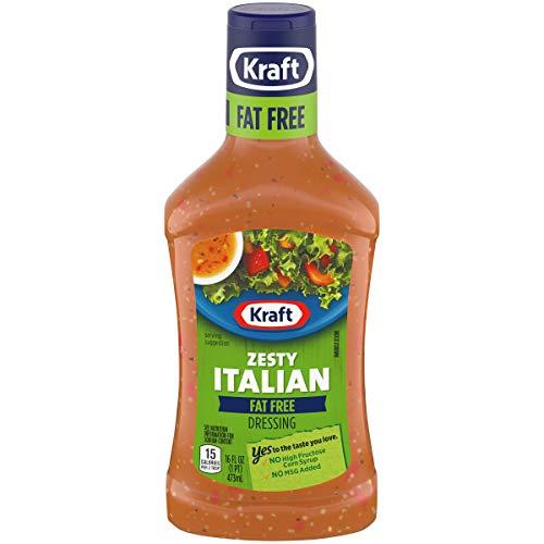 Kraft Salad Dressing, Fat Free Zesty Italian, 16 oz