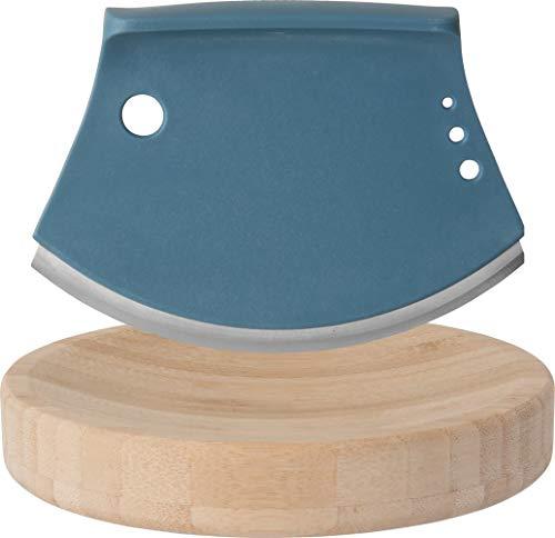 BergHOFF Leo Mezzaluna kruidensnijder en snijplank, grijs/blauw