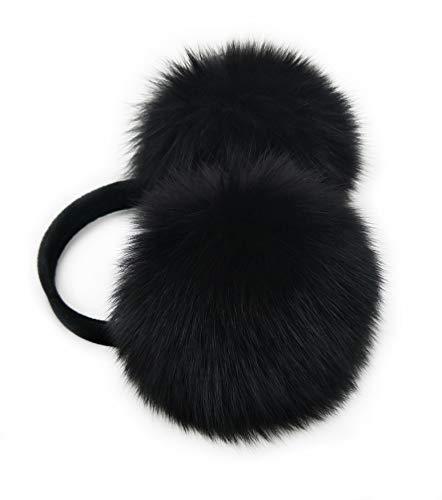 HIMA 100% Real Fox Fur Winter Earmuff, Made in US
