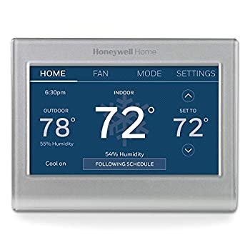 Honeywell Home RTH9585WF1004 Wi-Fi Smart Color Thermostat 7 Day Programmable Touch Screen Energy Star Alexa Ready