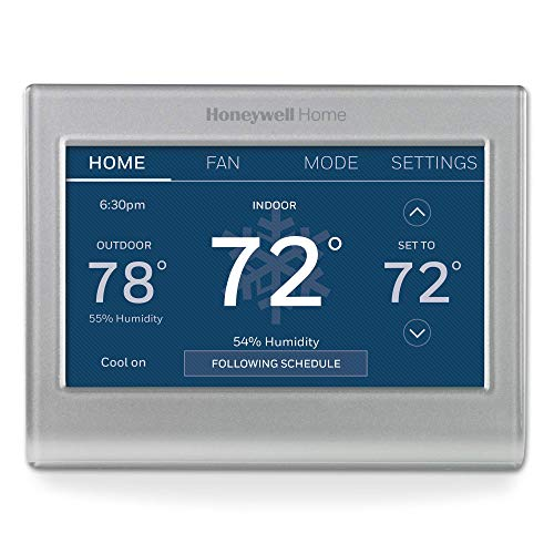 Honeywell RTH9585WF1004/W Home Wi-Fi Smart Color Programmable Thermostat, Alexa Enabled, (RTH9585WF1004), Pack of 1, Gray