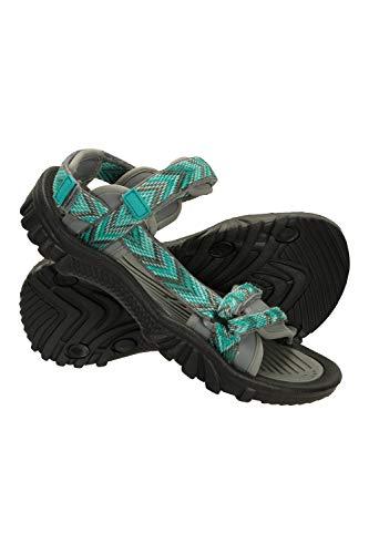 Mountain Warehouse Cyprus Sandalias para Mujer - Calzado Transpirable para Mujer, Forro de Neopreno, Plantilla con Cobertura de Microfibra - Deporte, Gimnasio, cámping Azul Talla Zapatos Mujer 38 EU